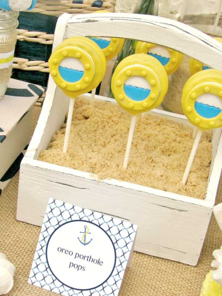 Nautical Themed Baby Shower Porthole Oreo - PinkDucky.com