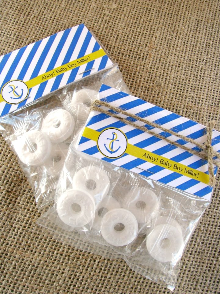 Nautical Themed Baby Shower Life Savers Favors - PinkDucky.com