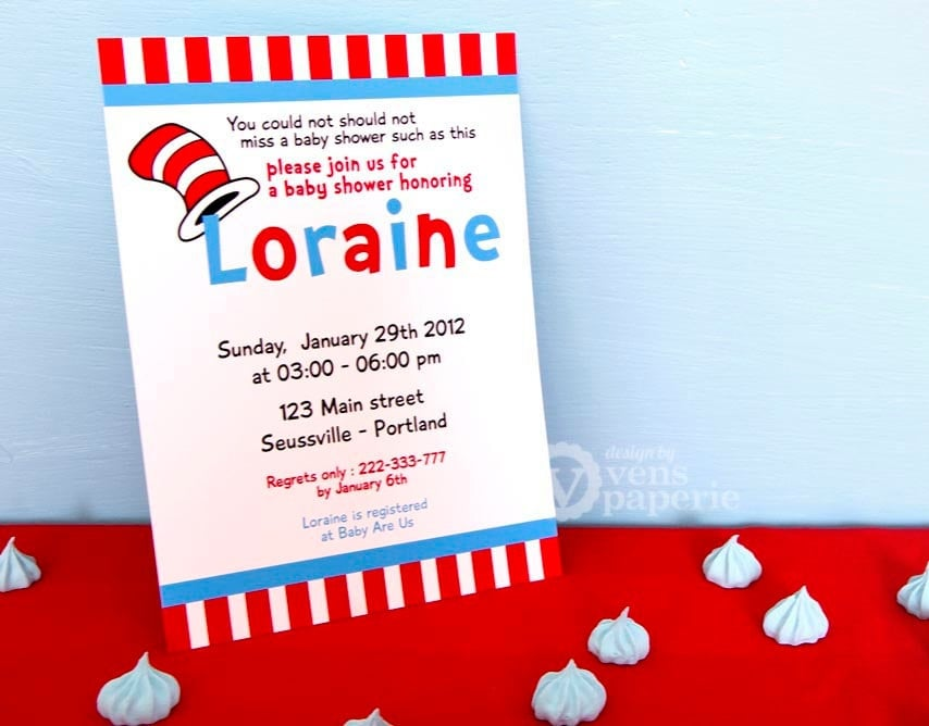 Dr. Seuss Baby Shower Invitations- PinkDucky.com