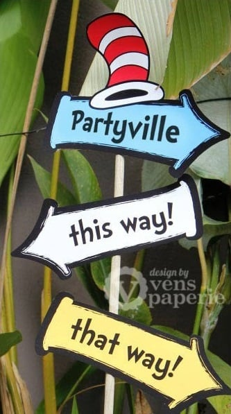 Dr. Seuss Baby Shower Welcome Sign - PinkDucky.com
