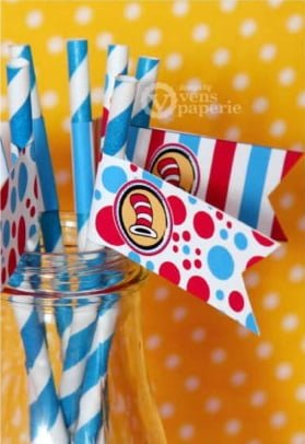 Dr. Seuss Baby Shower Straws - PinkDucky.com