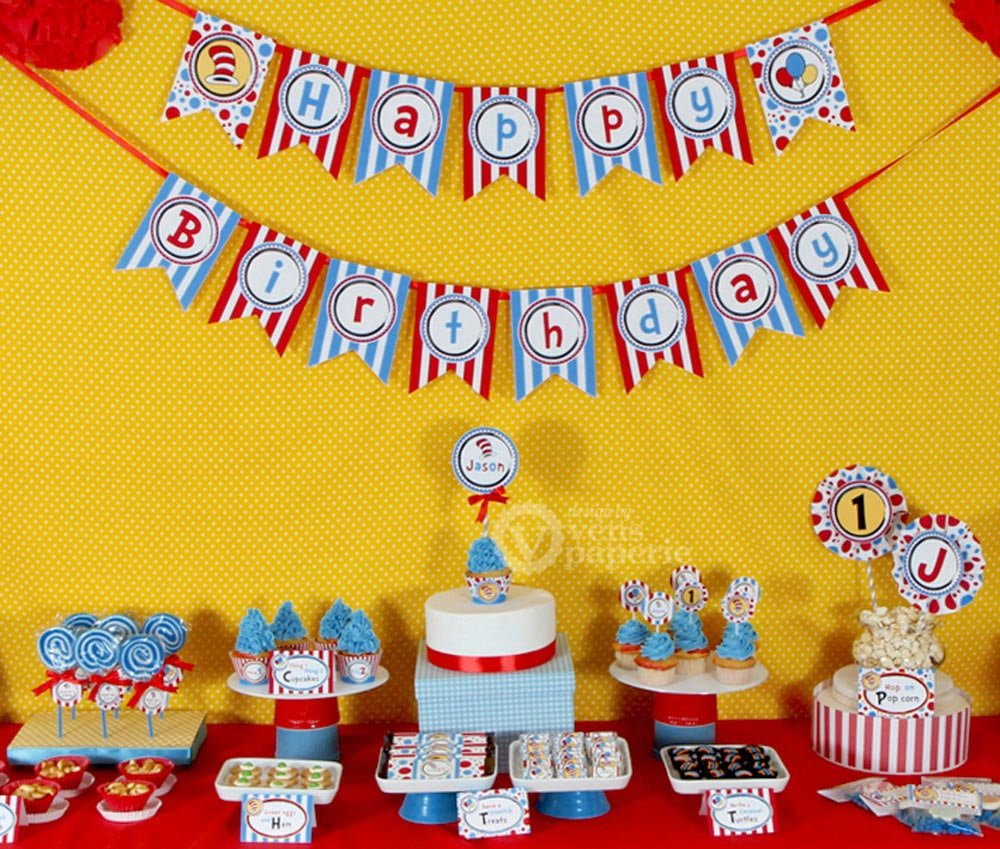 Dr. Seuss Baby Shower Decorations - PinkDucky.com