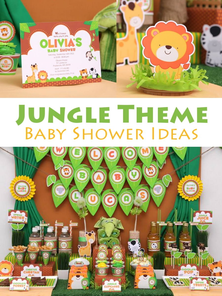 Jungle theme baby shower ideas for Baby shower party junge