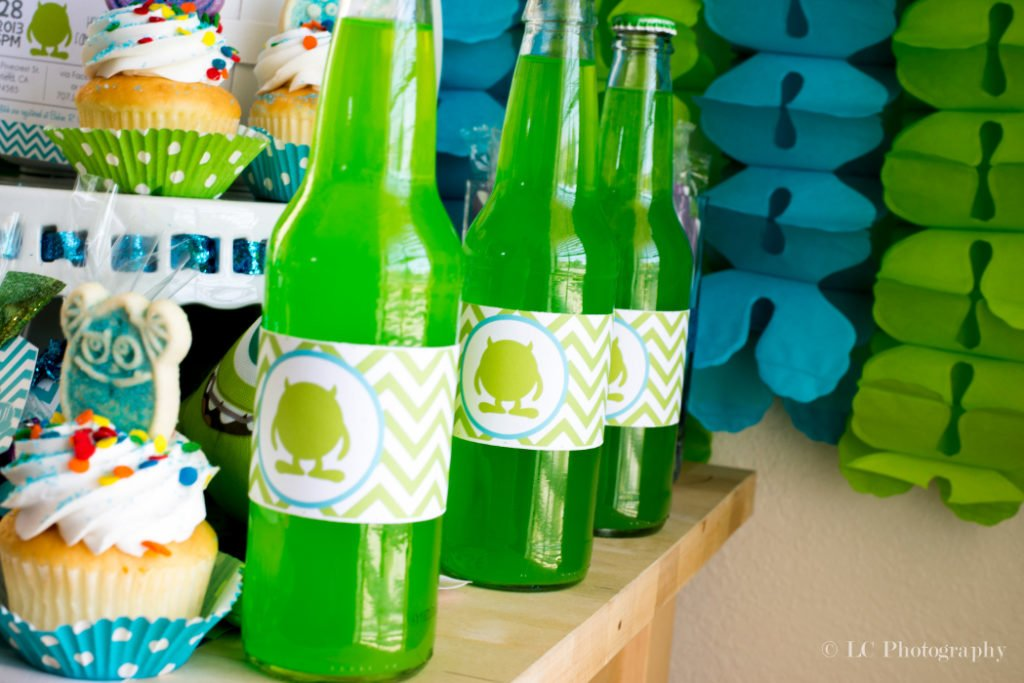 Lime Slime Monsters Inc. Baby Shower Ideas - PinkDucky.com
