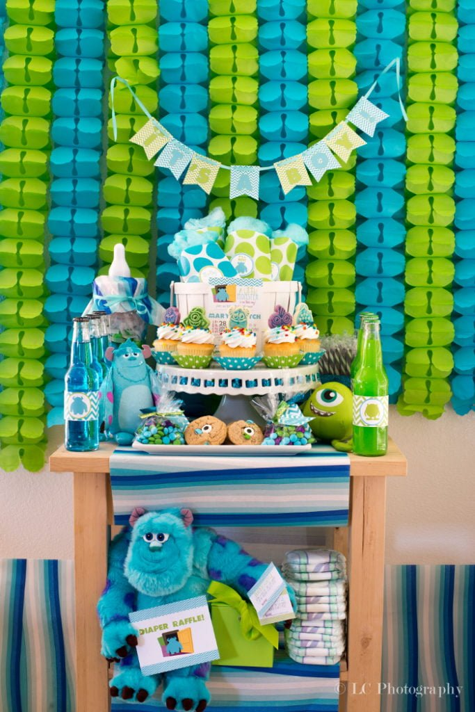 Lovely Monsters Inc. Baby Shower Decorations   PinkDucky.com
