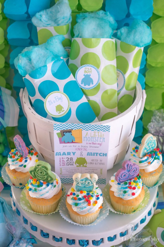 Sully Fur Monsters Inc. Baby Shower Food Ideas - PinkDucky.com