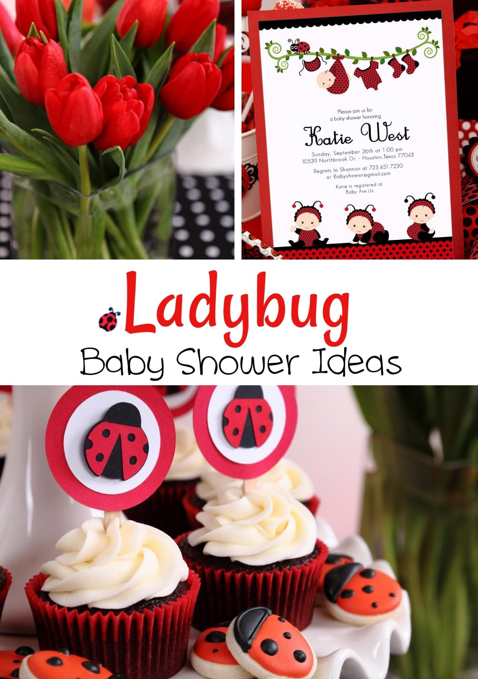 ladybug baby shower ideas