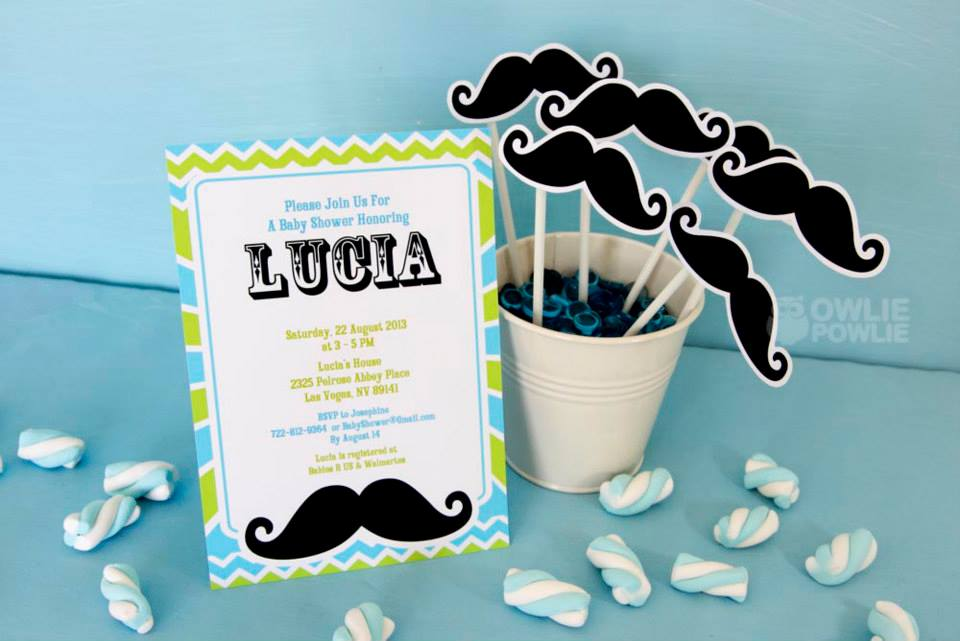 Mustache Baby Shower Invitations - PinkDucky.com