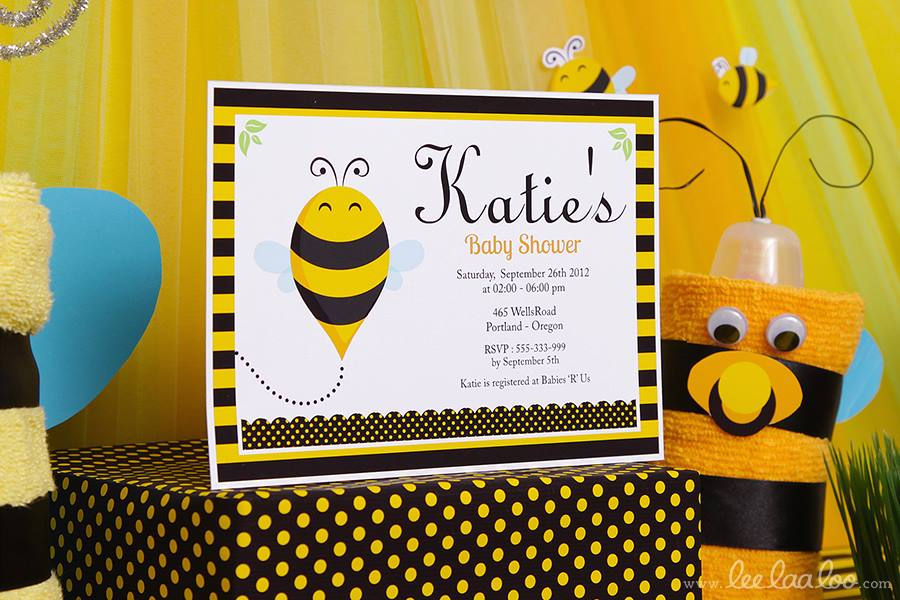 Bumble Bee Baby Shower Invitations - PinkDucky.com