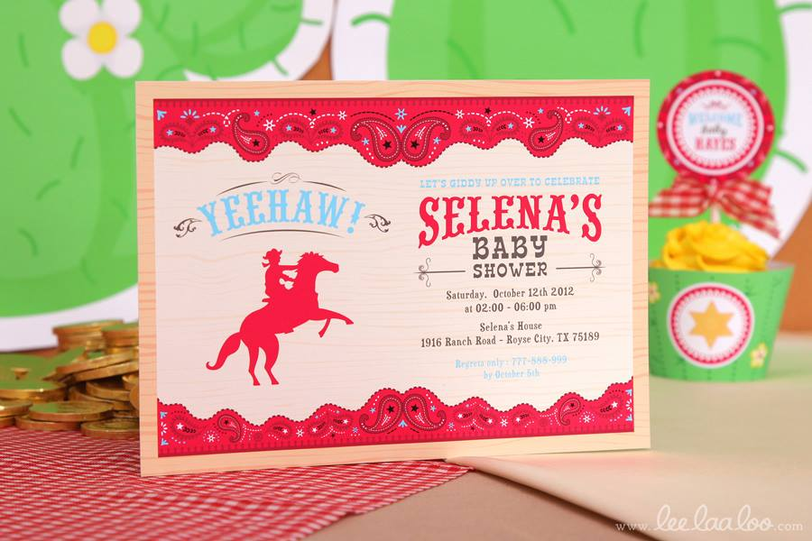 Cowboy Baby Shower Invitations - PinkDucky.com