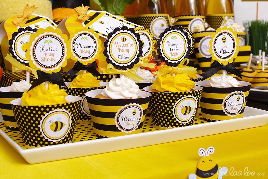 Bumble Bee Baby Shower Cupcakes - PinkDucky.com