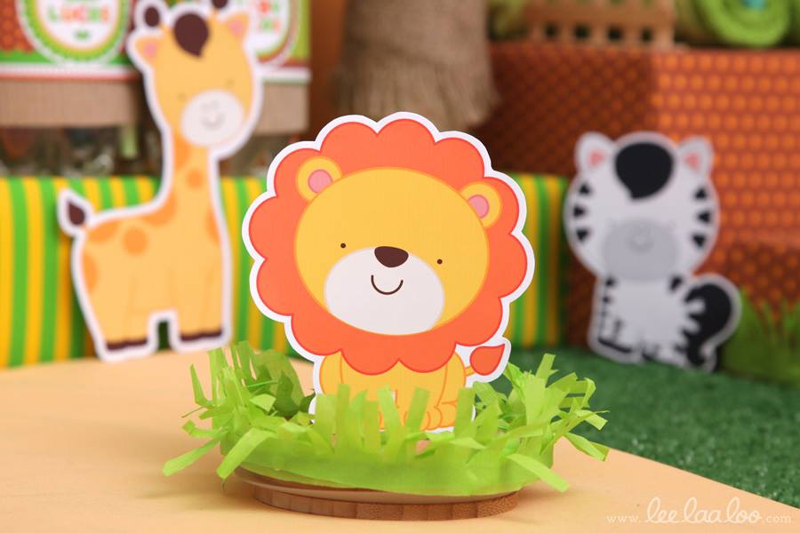 Jungle theme baby shower ideas for Animal party decoration