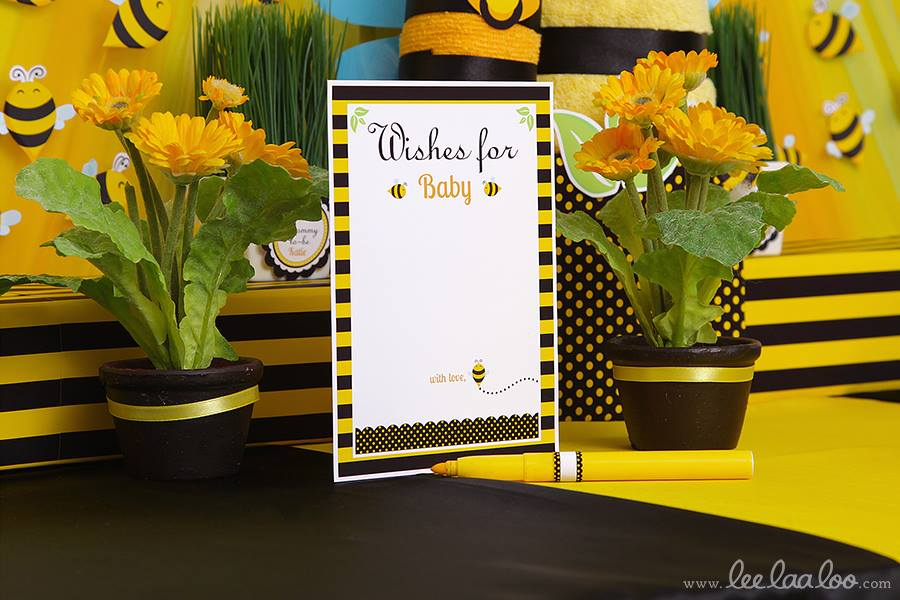 Bumble Bee Baby Shower Wishes - PinkDucky.com