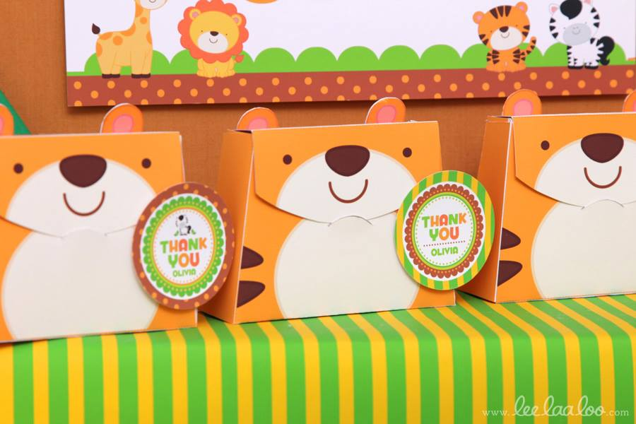 Jungle Theme Baby Shower Favors - PinkDucky.com