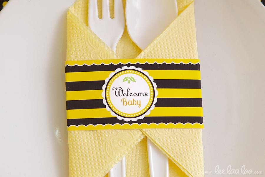 Bumble Bee Baby Shower Table Setting - PinkDucky.com