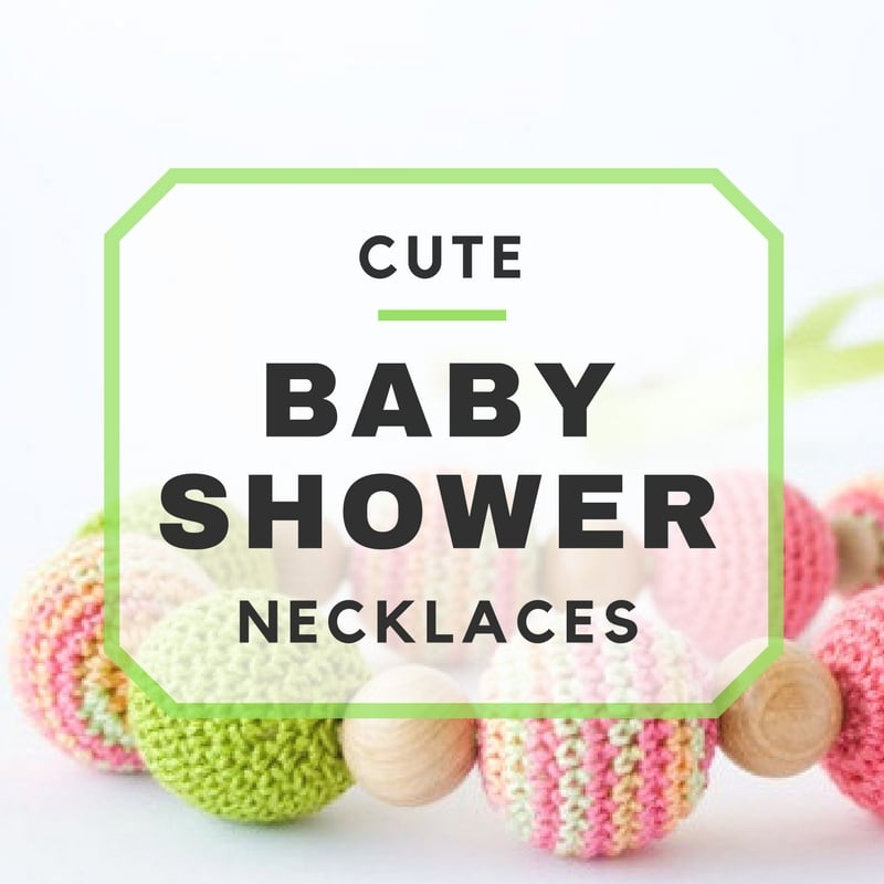 Cute Baby Shower Necklace Ideas