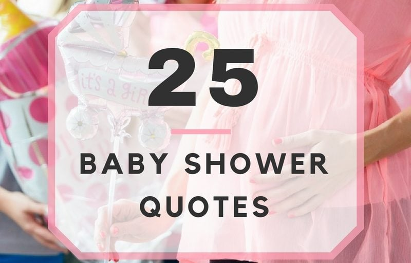 Quotes For Baby Shower Brilliant 25 Baby Shower Quotes