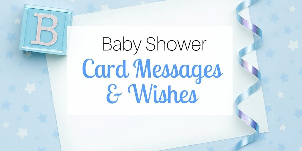 baby shower card messages wishes