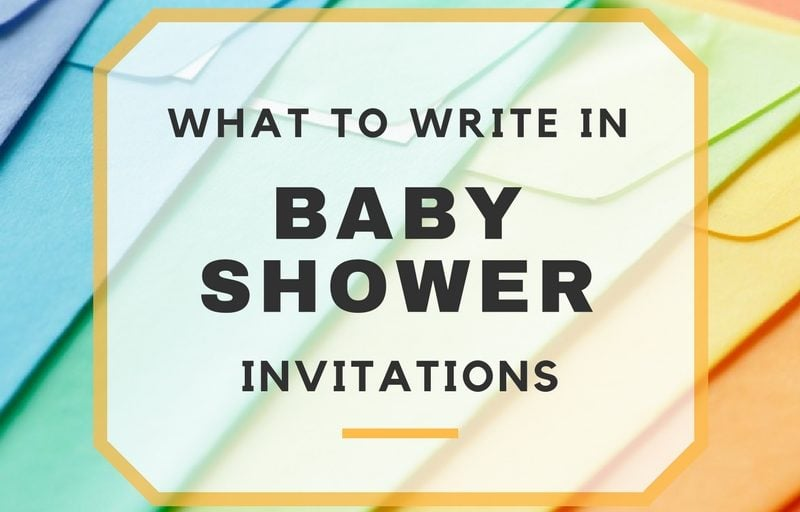Ways To Word Your Baby Shower Invites
